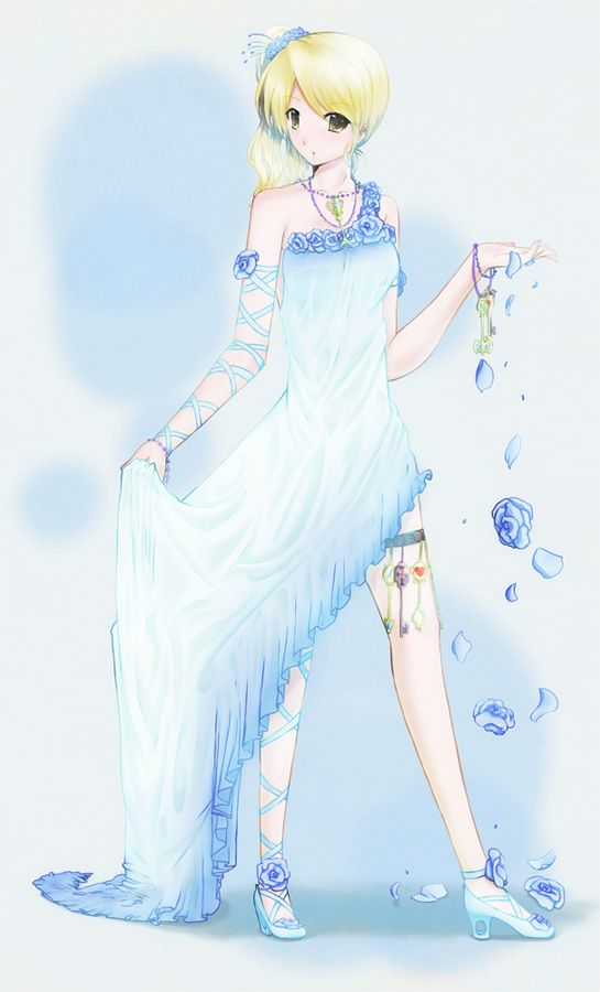 Lucy Heartfilia-Blue Dress By InouePhantomive