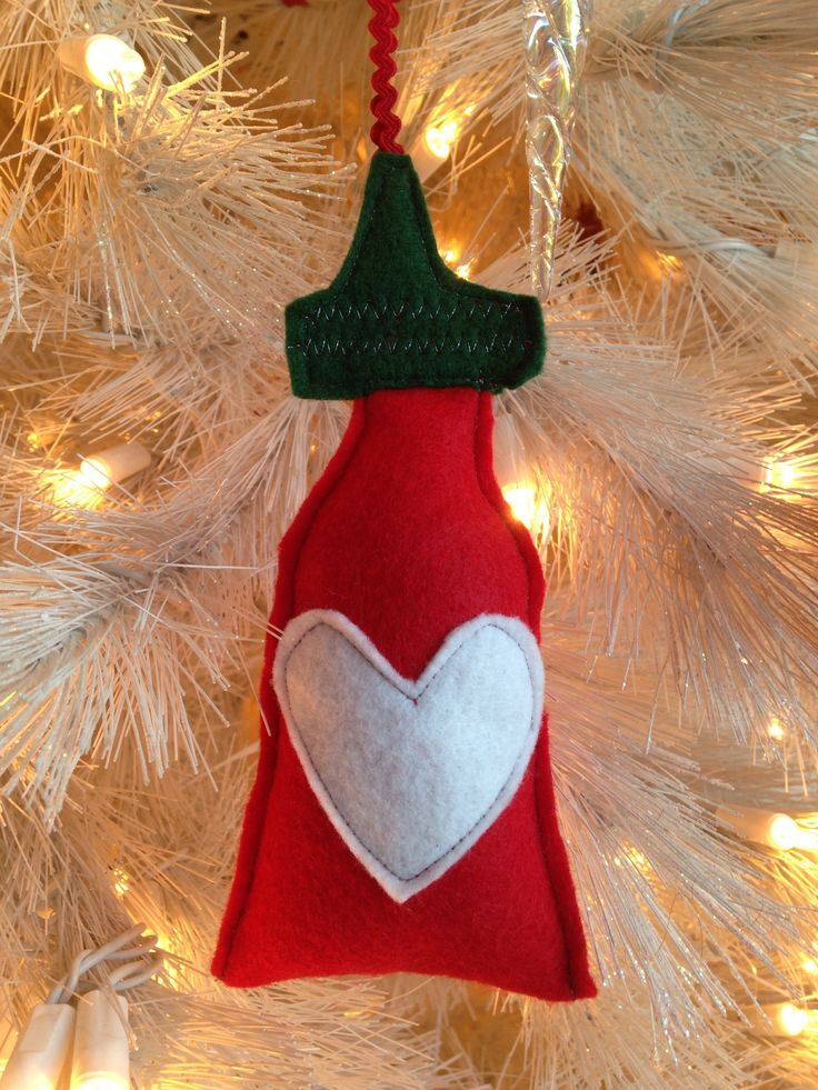 Excited to share the latest addition to my #etsy shop: Handmade Original Mushpa + Mensa Design Eco-Fi Felt Sriracha Hot Sauce Funny Christmas Ornament Dried Lavender Flowers in the Stuffing http://etsy.me/2jx4xhh #housewares #homedecor #red #christmas #green #bedroom #