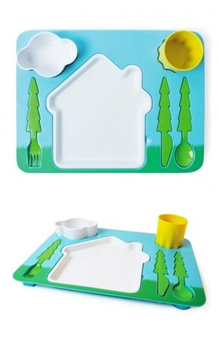 Landscape Dinner Set // supposed to be for kids but I want one for meeeee!