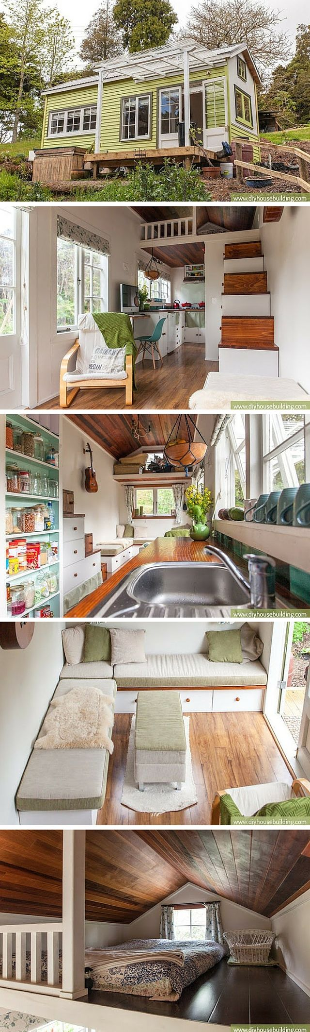 Lucy the Tiny House: a 186 sq ft home in New Zealand, occupied by a couple and…