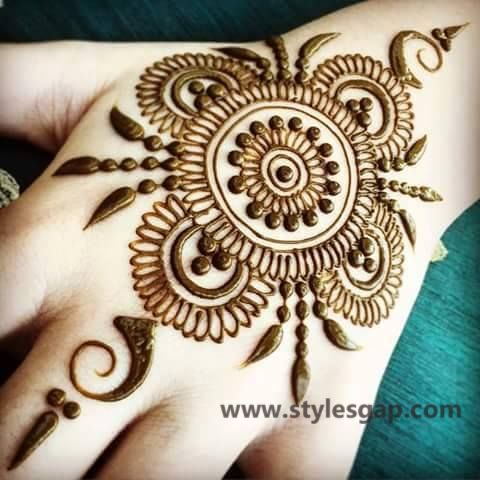 Simple & Easy Eid Mehndi Designs 2016-2017 Latest Collection  (34)