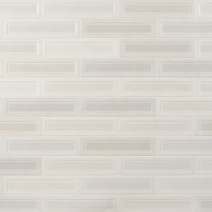 Griffin White Mix 3x12 Polished Ceramic Tile In 2020