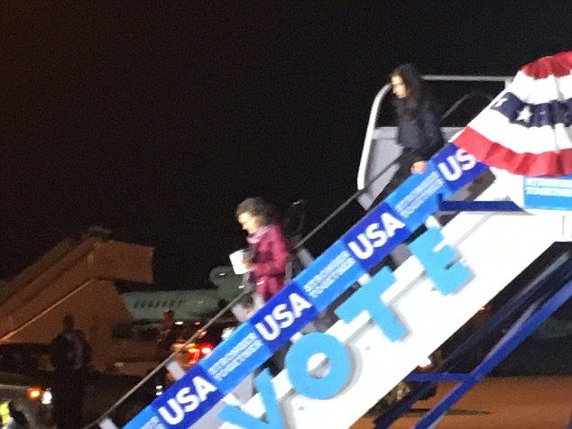 Longtime Hillary Clinton aide Huma Abedin finally made it back onto her boss's campaign plane for one of the final legs of Clinton's historic presidential run