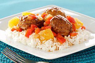 Recette de Boulettes de viande glacées à la polynésienne - Kraft Canada