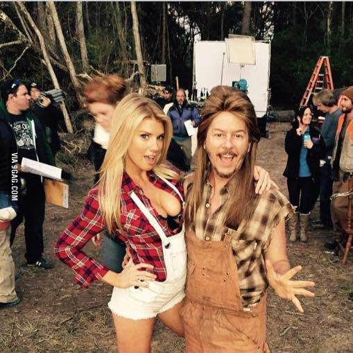 "David Spade on the set of ""Joe Dirt 2"""