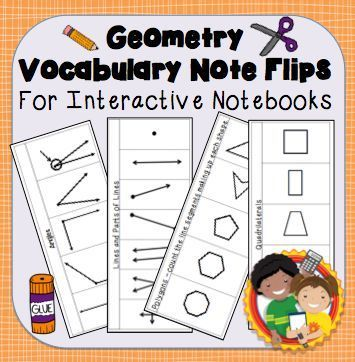 Interactive Notebook Plane Geometry Vocabulary Flips & Quizzes from Not Your Mother's Math Class on TeachersNotebook.com - (13 pages) - Plane geometry has a ton of vocabulary words for students to learn. Use these vocabulary flips for students to take notes. It gives students a great way to study.
