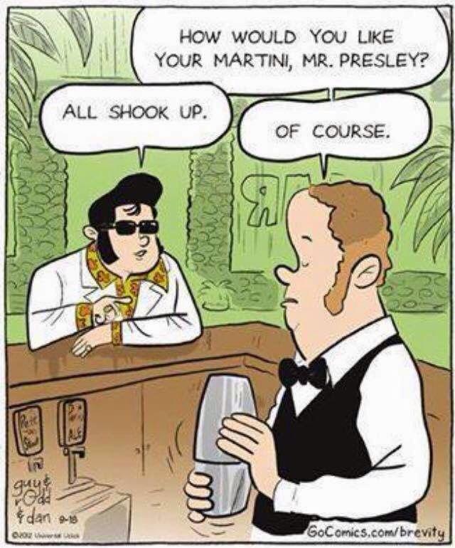 * all shook up Elvis martini