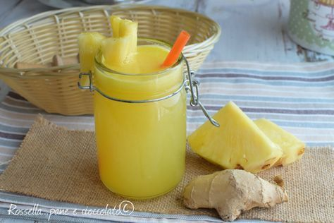Ananas e Zenzero Dimagranti e Depurativi con e senza estrattore ;) http://blog.giallozafferano.it/ricettepanedolci/ananas-e-zenzero-dimagranti-e-depurativi/