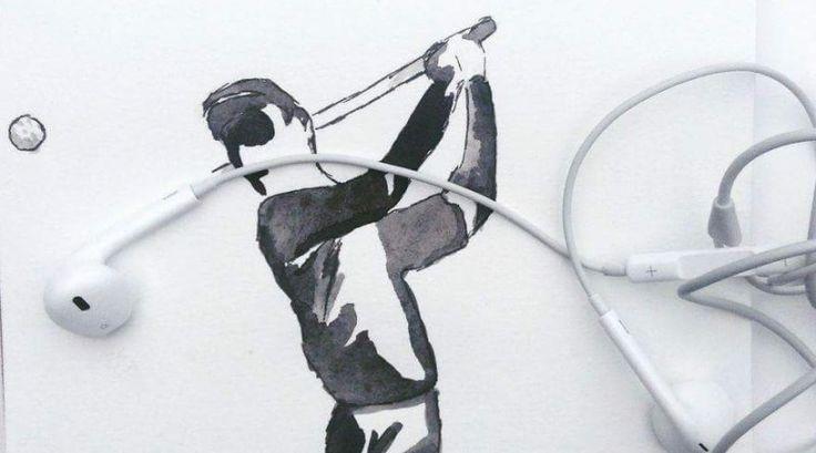 Kulaklık Golf Sopası ve Golf