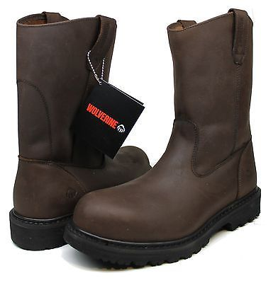 """Mens Wolverine W08051 O'Brien Steel-Toe EH 11"""" Pull-On Work Boots $170 Sz 8"""