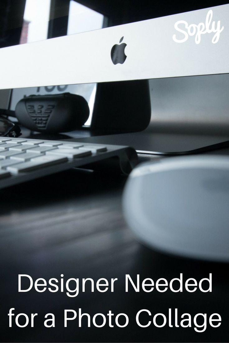 Designer needed for a photo collage. The client has about 100 photos and wants to make a birthday gift. See the design job and apply by clicking the pin!