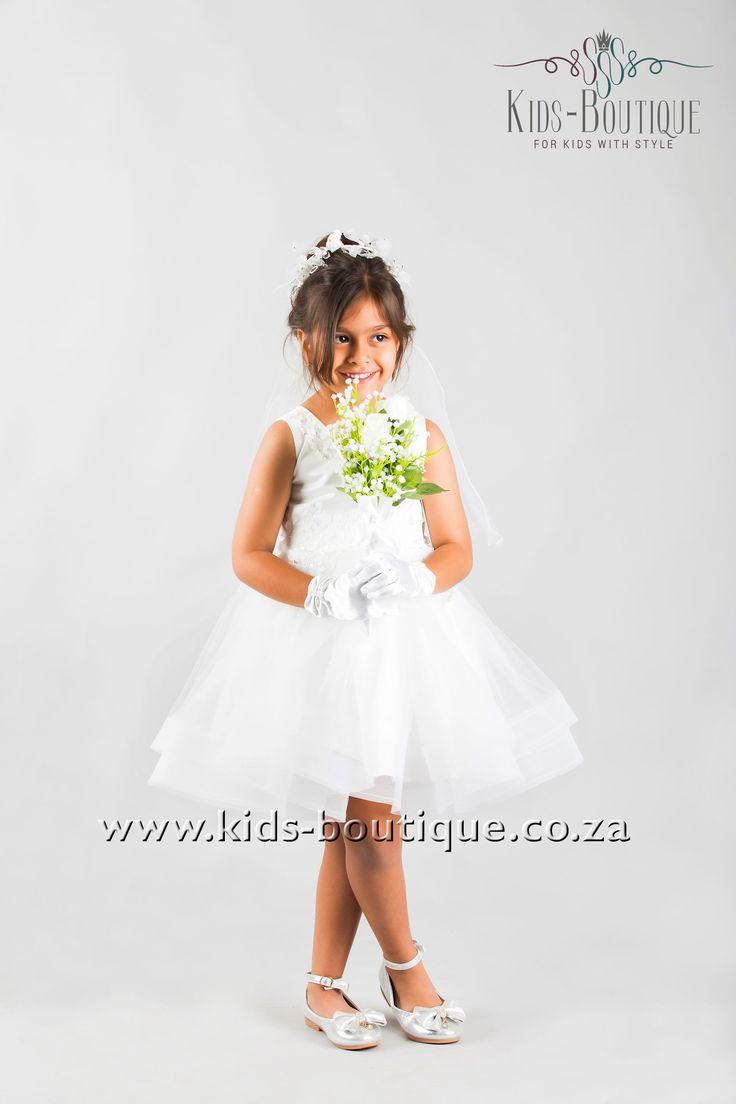 White Wide Brim Dress