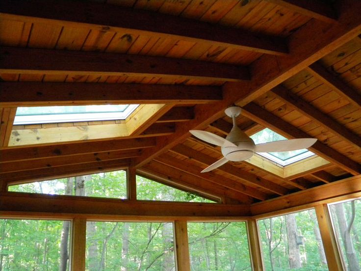 Screen In Porch With Skylights Images Screened Porch