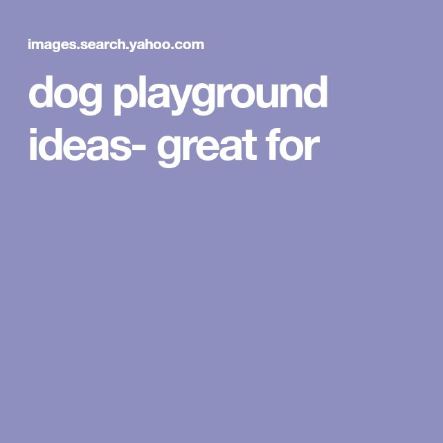 dog playground ideas- great for