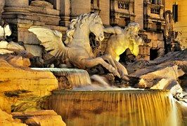 Roma, Fontana Di Trevi, Estatua, Fontana