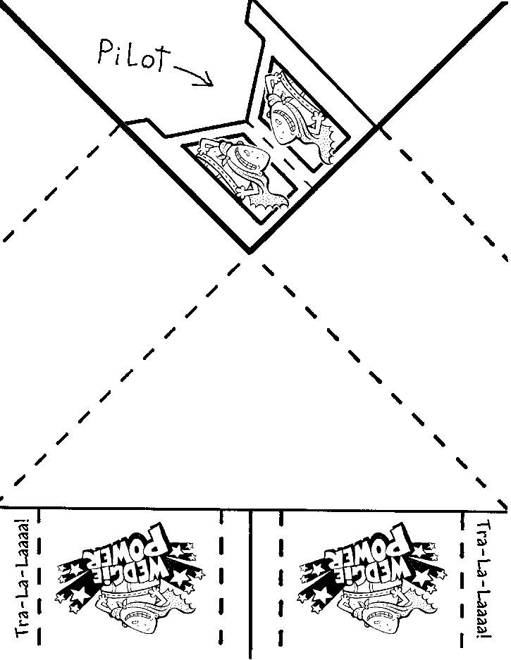 captain underpants printable paper airplane template