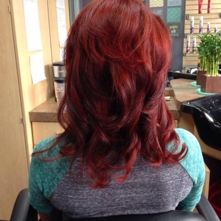 Deep Vibrant Red Using Wella Color Formula Lacee S Hair