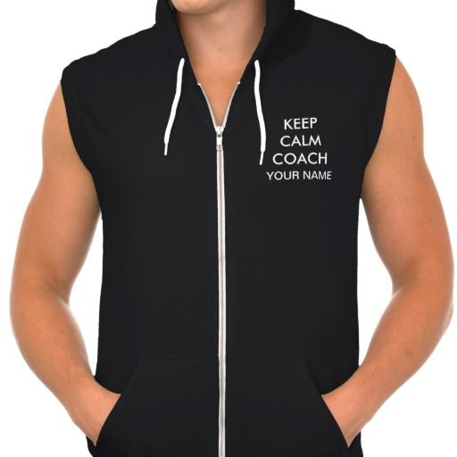 """Personalized KEEP CALM AND COACH ON Hoodie Vest with YOUR NAME on the Front of the coach vest below Keep Calm Coach"""". On the back is the full """"KEEP CALM AND COACH ON"""". Coach Gift Ideas. Personalized Coaches Gifts  With Your Coach's NAME, typed into Text Boxes below """"Personalize it"""". CLICK HERE: http://www.zazzle.com/littlelindapinda/gifts?cg=196878236083328994&rf=238147997806552929*/ ALL of Little Linda Pinda Designs CLICK HERE: http://www.Zazzle.com/LittleLindaPinda*/  Gift Ideas for…"""