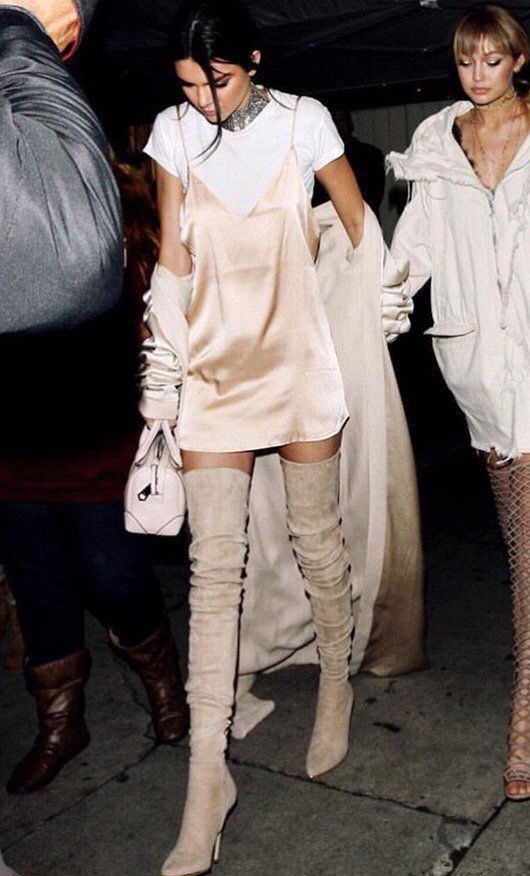 Kendall Jenner steps out wearing Balmain FW16 boots #BALMAINARMY