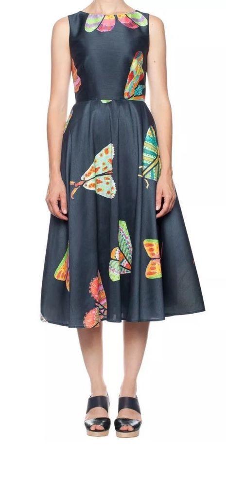 "Stunning GORMAN ""Mega Moth"" Dress Size 14 New With Tags"