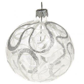 Kugel Weihnachtsbaum geblasenes Glas 8 cm | Online Verfauf auf HOLYART