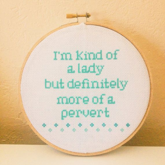 "SALE!!! I'm kind of a lady - 6"" cross stitch"