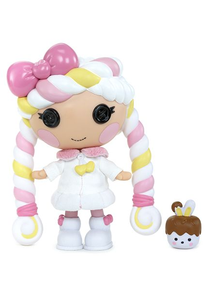 Lalaloopsy™ Sugary Sweet™ Little doll Mallow Sweet Fluff™ likes to keep things light and fluffy. Lalaloopsy™ Sugary Sweet™ Littles dolls are adorable candy themed characters. Collect them all!