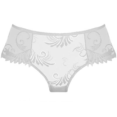 EMPREINTE - THALIA in White.  Fine #seductive #shorty that embraces perfectly your shape with its airy blend of #embroidery and #lace.  More on : www.empreinte.eu/ Find a store : http://www.empreinte.eu/storeLocator.aspx #empreinte #lingerie #bridallingerie #bridal #mariage