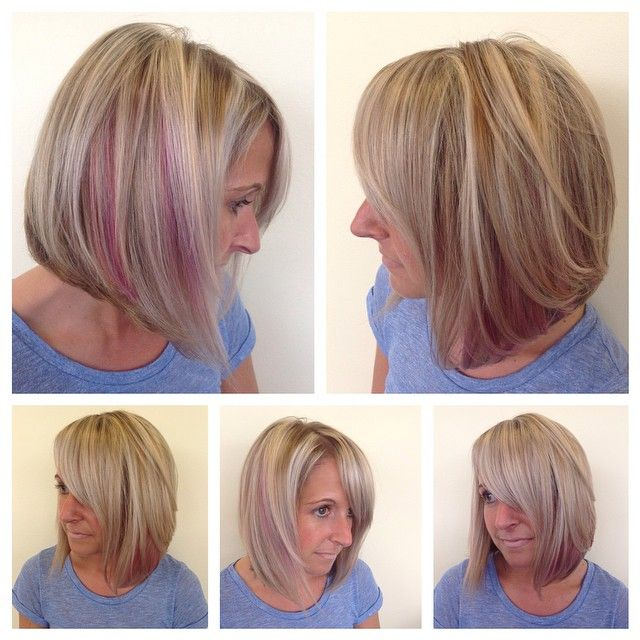 Pink peekaboo highlights