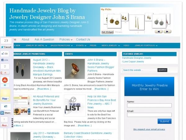 Handmade Jewelry Blog by Jewelry Designer John S Brana: Jewelry Tutorials, Jewelry Blog, Jewelry Crafts, Jewelry Creations, Design Jewelry, Jewelry Stuff, Jewelry Ideas, Jewelry Designer, Handmade Jewelry