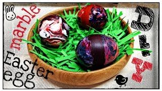 DIY - marble Easter egg with nail polish - YouTube