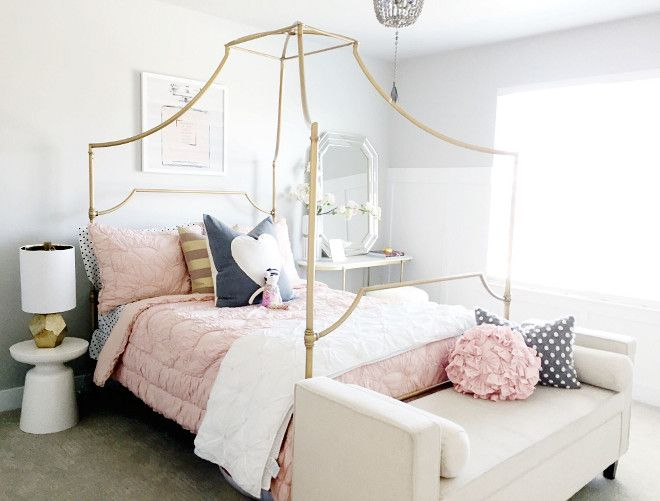 Beautiful Homes of Instagram    Paint Color   Sherwin Williams Repose  Gray   Girls Bedroom CanopyTeen. 25  best ideas about Girls bedroom canopy on Pinterest   Kids