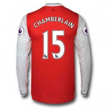 Arsenal 16-17 Alex Chamberlain 15 Hemmatröja Långärmad   #Billiga  #fotbollströjor