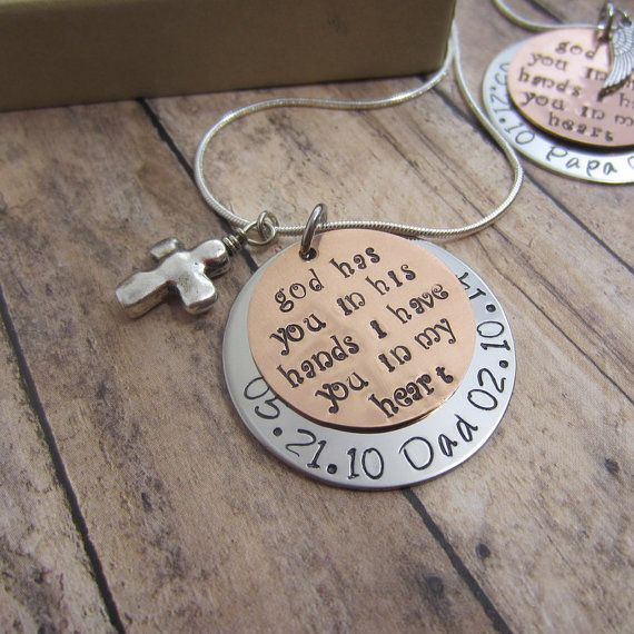 Memorial Necklace funeral gift In Memory of Son by JadeVineJewelry