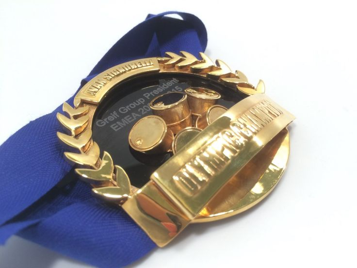 Greif medal - 3d printed brass - exclusive award
