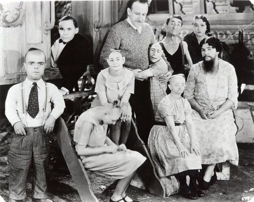 """Old time circus """"freaks""""--many of them were kind, loving people trying to earn a living for their family."""