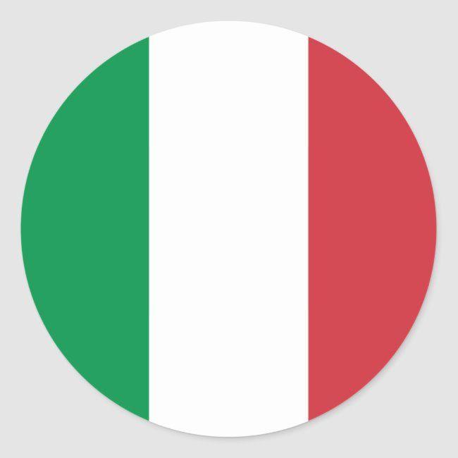 Italia Flag Of Italy Il Tricolore Italian Flag Classic Round Sticker Ad Affiliate Tricolore Il Classic Italian Italy Flag Flag Italian Flag
