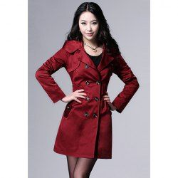 $23.82 #Casual #Hot Sale #Style Long Sleeves Hooded Solid Color Double-Breasted Embellished #Coat For #Women