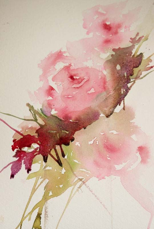 "Painting Roses in a Loose Style   Adding Foliage      One of my most popular posts on my blog is ""How to Paint Roses in a Loose Style""..."