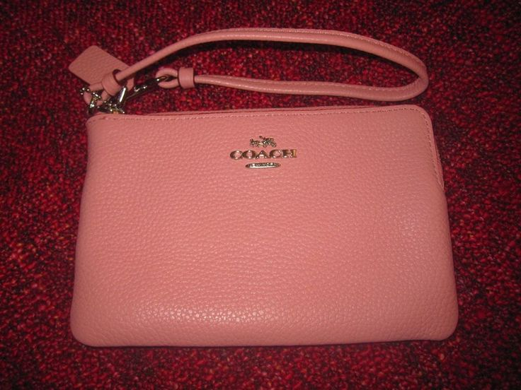 ... Authentic New Small Pink Coach Purse Clutch . 3b841bc37b