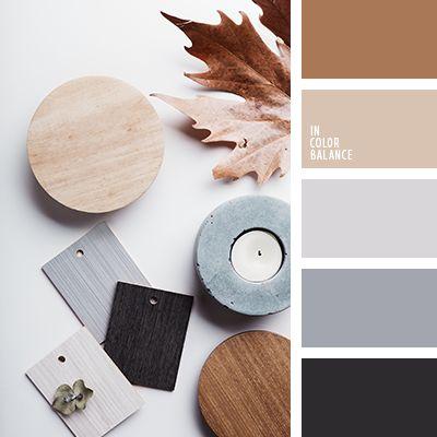 бежевый, контрастное сочетание теплых и холодных тонов, коричневый и черный, кремовый бежевый, оттенки коричневого, оттенки серо-синего цвета, оттенки серого, оттенки сине-серого цвета, палитры для дизайнеров, рыже-коричневый цвет, серый.