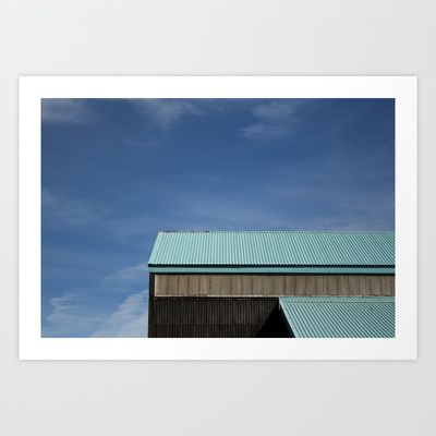 """Blue Roof"" by Shy Photog - $19.00"