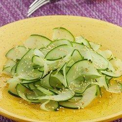 Japanese Cucumber Salad - EatingWell.com Add cooked Shrimp Increase sugar amount.