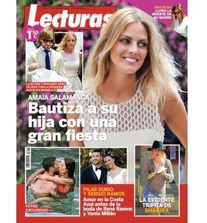 """LAS CADERAS TABASCO: Shakira en la revista """"Lecturas"""" de esta semana (E..."""