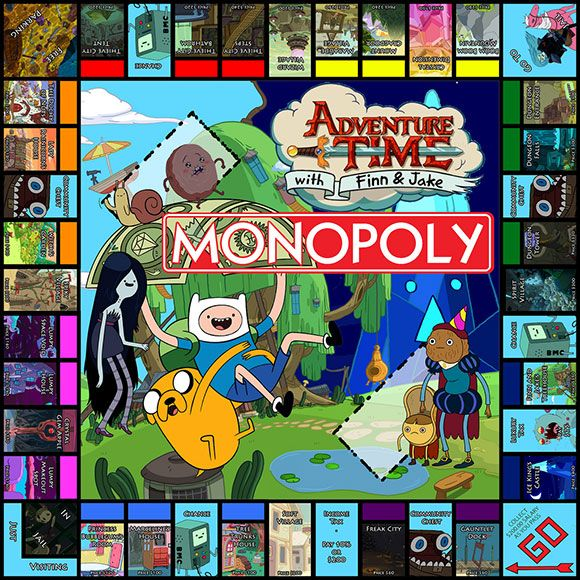 Adventure Time Monopoly Board.. . if only it was true