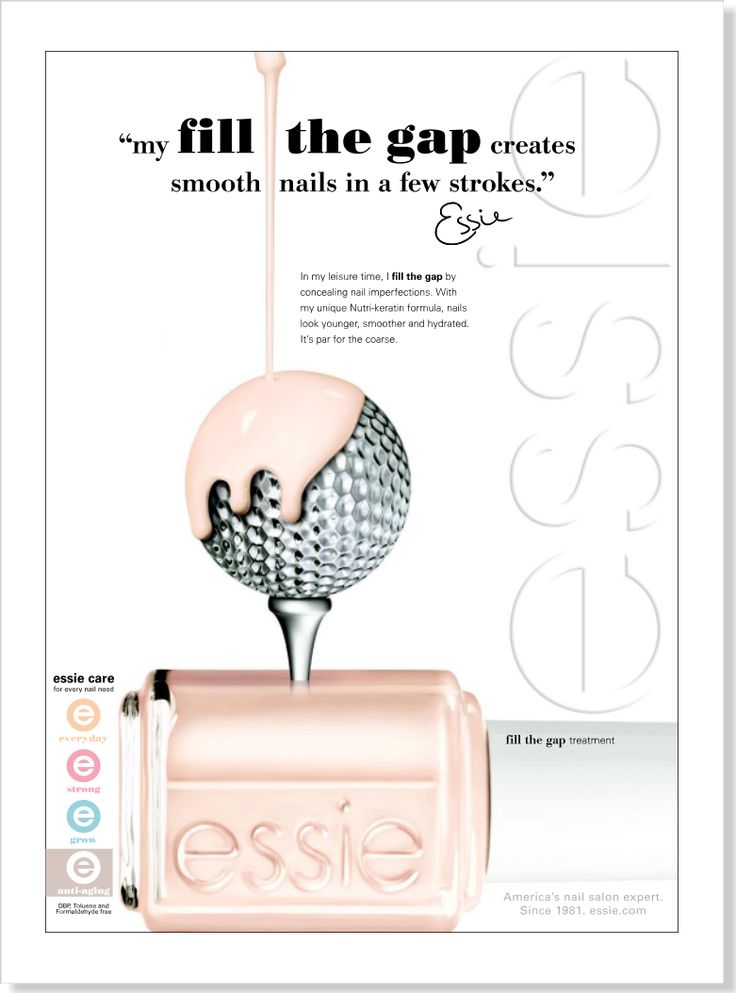 Essie has the most creative ads