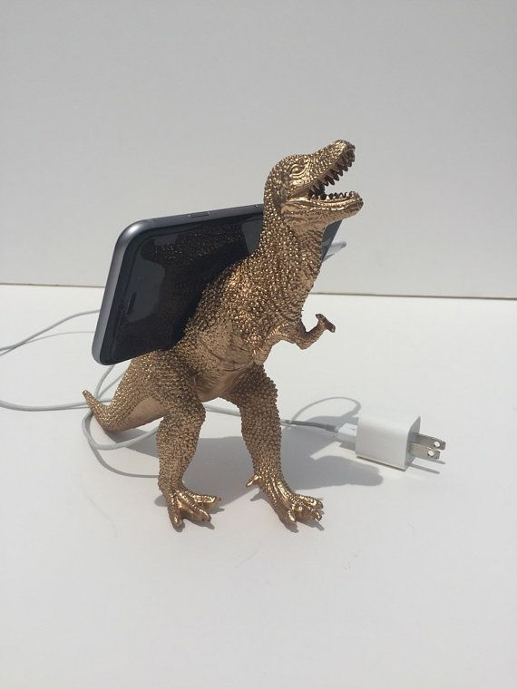 Dinosaur Cell Phone Charging Station iPhone by JurassicPlanters