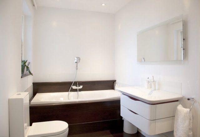 1101 best salle de bains images on pinterest bathroom for Amenagement salle de bain petit espace avec baignoire