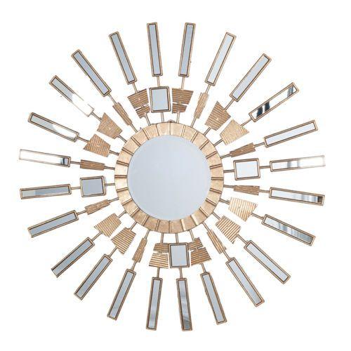 BELLISSIMO-ORO-A-SOLE-Parete-Specchio-76-cm-Unique-Art-Deco-MOSAICO-AFFARE-PREZZO