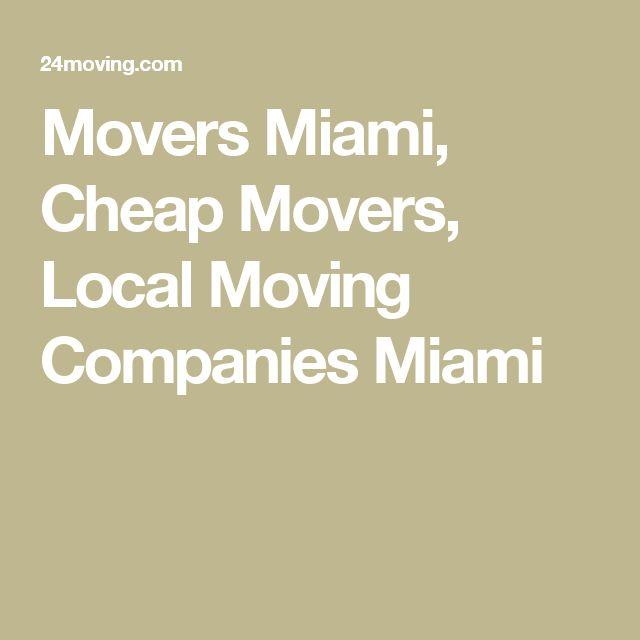 Movers Miami, Cheap Movers, Local Moving Companies Miami